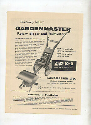 Industrial Farming & Agriculture Landmaster Gardenmaster Rotary Hoe & Cultivator Advertisement From 1957 Magazine