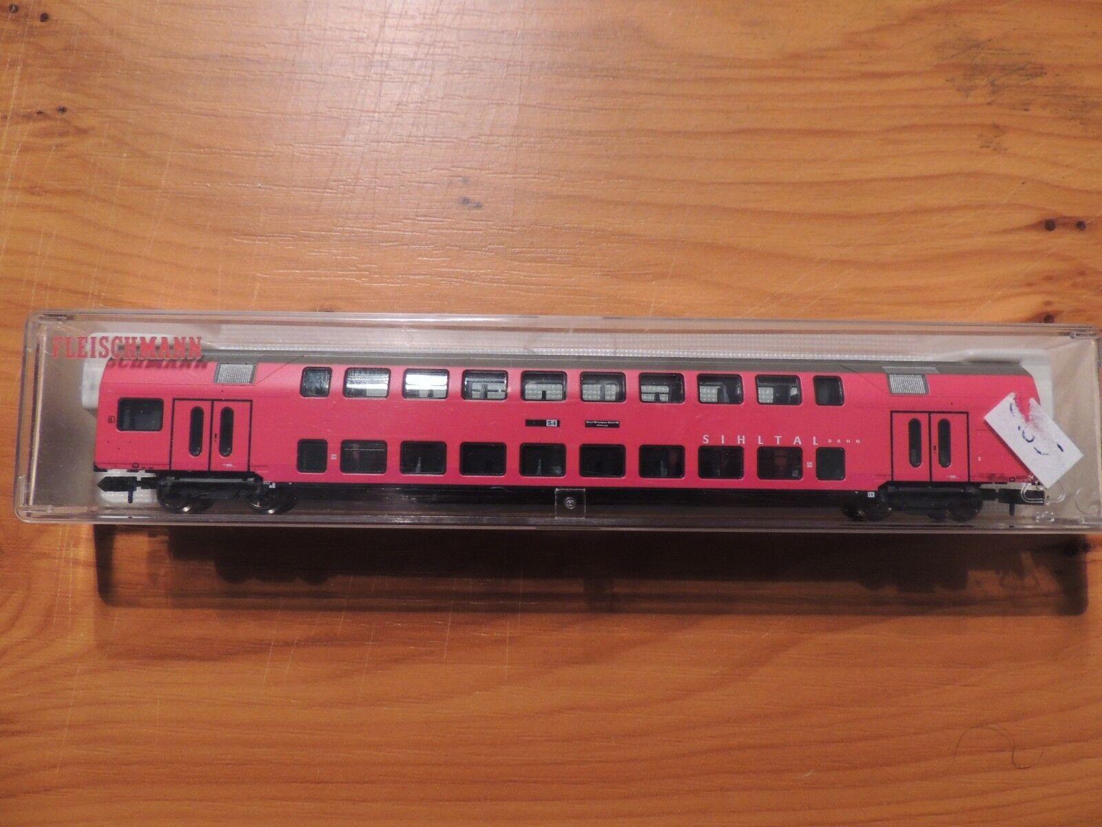 FLM   8755   doppio bastone auto 2. Kl., BA. B, 4-achs., rosso, 'SIHLTAL-BAHN'  ovp
