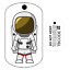Travel Bug Andy L/'astronaute Pour Geocaching-traçable Tag-oléfines