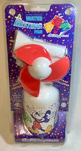 1997 White Vintage NOS Walt Disney Parks Misting Water Spray Fan with Laynard