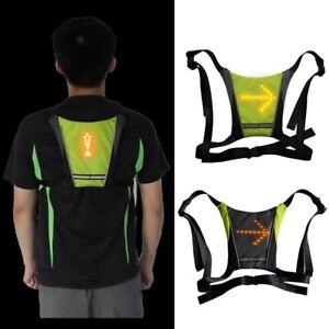 Cycling-Bike-Reflective-Safety-Vest-Jacket-LED-Wireless-Turn-Signal-Light-Vest