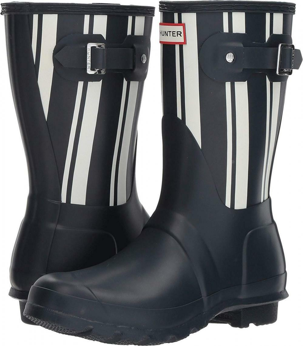 Hunter Womens Original Garden Stripe Short Rain Boots