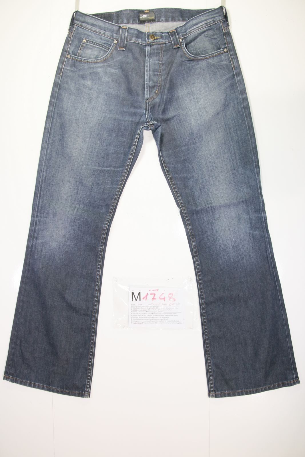 Lee Denver Flare Bootcut ( Cod. M1748) Tg50 W36 L32 Jeans Used High Waisted