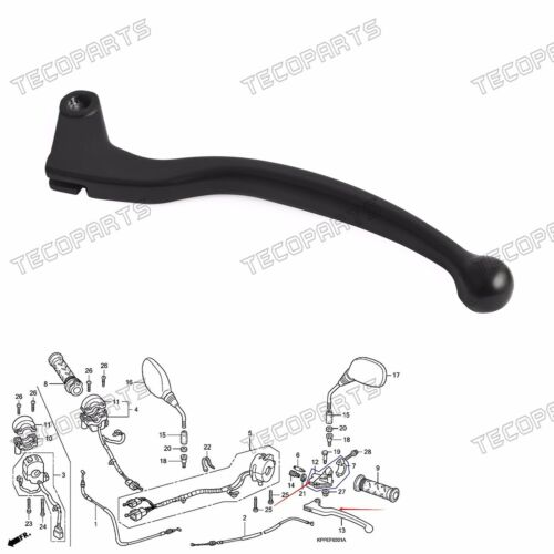 Cast Alloy Black Clutch Lever Only for Honda CBR 125 R 2004-2016 15 14 13 12 11
