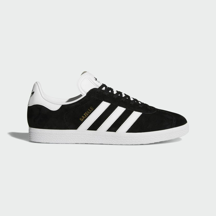 ADIDAS GAZELLE SHOES COLOR BLACK/WHITE STYLE BB5476 SIZE 10