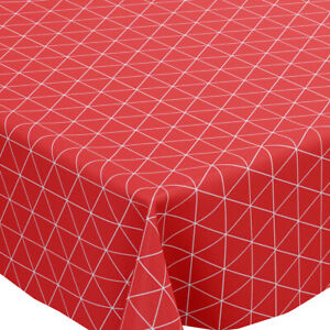 Grey Multi Geometric Triangles PVC Vinyl Wipe Clean Tablecloth Round Rectangle