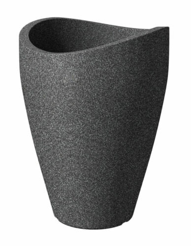 Scheurich Fioriera 254 WAVE Globe HIGH NERO-granito 40 cm