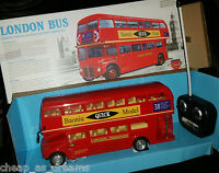 London Transport Tour Bus Radio Remote Control Car Double Decker Bus Led Lights