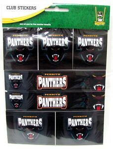 PENRITH-PANTHERS-NRL-7-PACK-CLUB-LOGO-WORD-STICKER-SHEET-KIDS