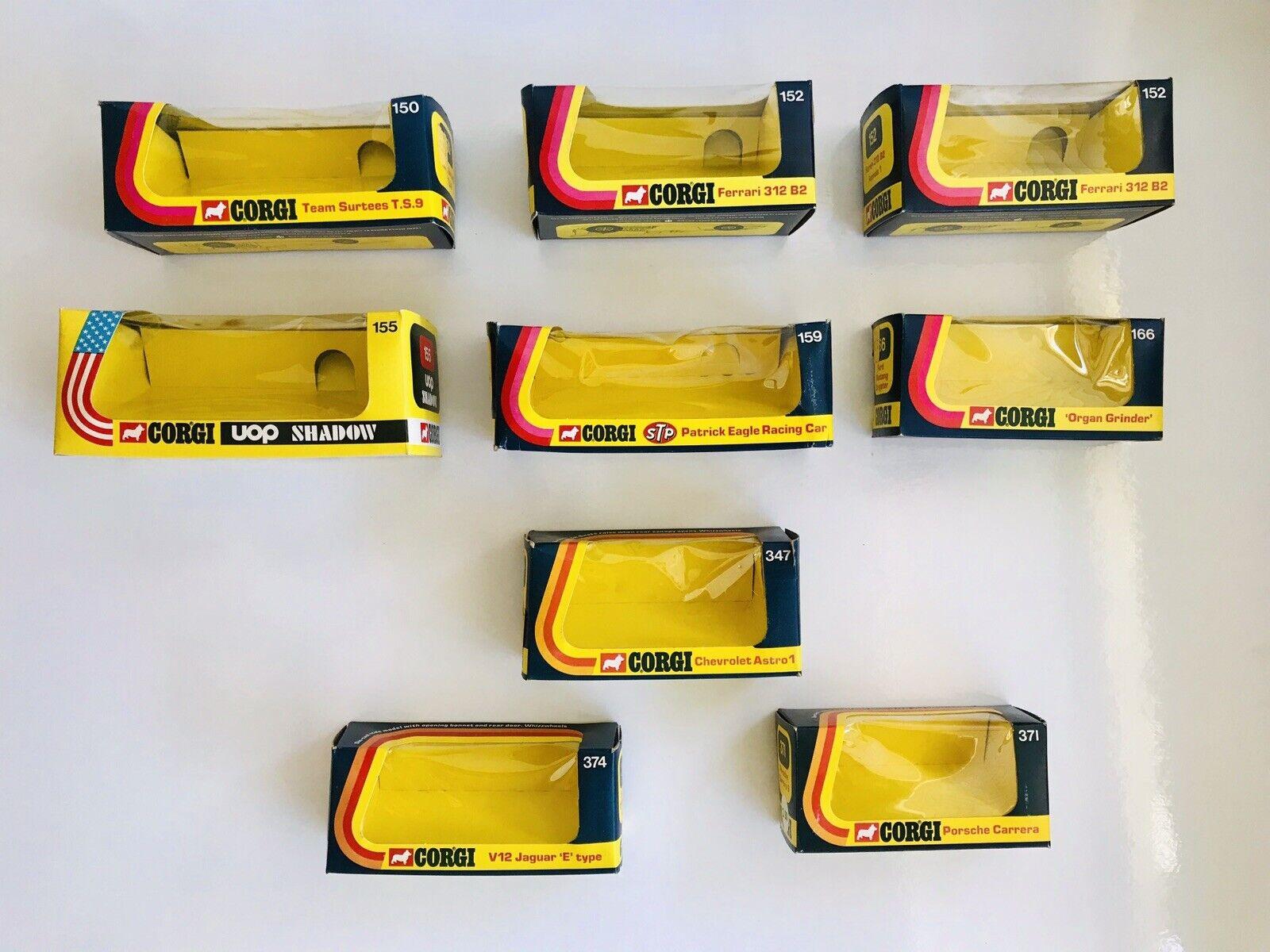 Lot Of 9 Vintage Corgi giocattoli 1970;s ORIGINAL EMPTY scatola