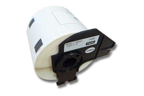 300 DRUCKER ETIKETTEN 62x100mm WASSERFEST für BROTHER P-touch QL-550 QL-560