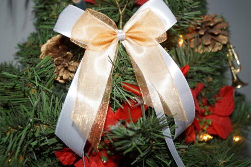 10er Pack Weihnachtsschleifen Christbaumschmuck Weihnachtsbaumschmuck Schleifen