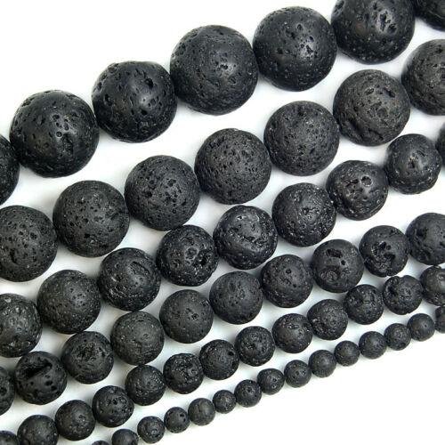 Natural Volcanic Lava Rock Gemstone Round Beads 15.5'' 4mm 6mm 8mm 10mm 12mm