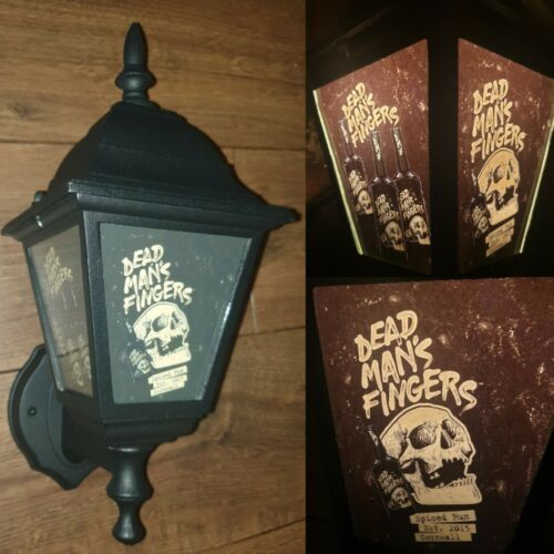 Dead Mans Fingers spiced rum Wall Light pub wall lantern rum dead mans fingers