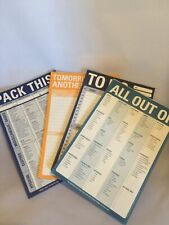 Memo Note Pads To Do List 40 Pages Per Pack Fits Day Planner Organizer Lot Of 4