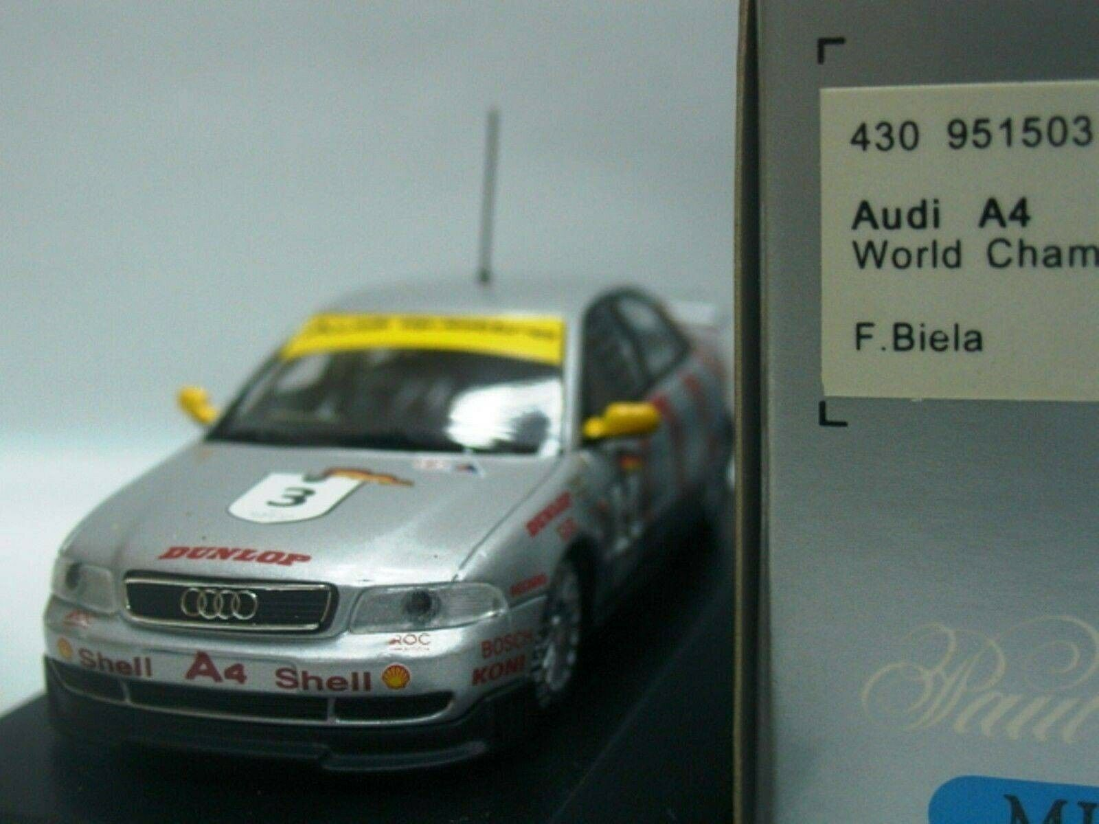 WOW EXTREMELY RARE Audi A4 Quattro 1995 Biela World Champion 1 43 Minichamps
