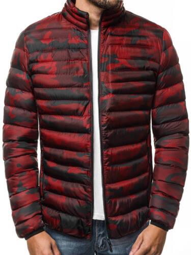 OZONEE 7781 Giacca Uomo Inverno Giacca Sport trapuntata calore Giacca Con Cappuccio Mix