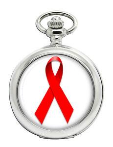 Red-Ribbon-Awareness-Pocket-Watch