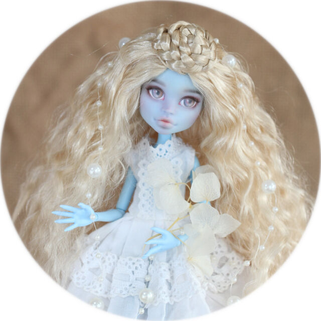 QQ8-13 5~6 inch,13~15cm head circa Synthetic Mohair BJD wig Monster High Doll