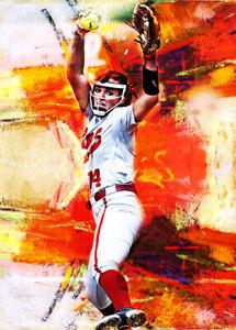 2021 Montana Fouts Alabama Crimson Tide 3/25 Art ACEO Print Card By:Q