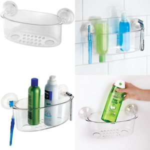 InterDesign-Potenza-Blocco-ASPIRAZIONE-bagno-doccia-Caddy-cesto-per-shampoo-saponi