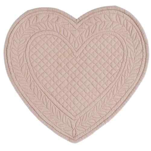 Herz Tischdecke Platzdecke Platzset Quilt rosa Shabby Blanc Mariclo Toskana