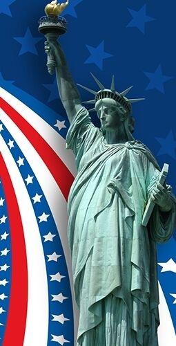 Patriotic Statue  of Liberty Cornhole Board Prints   Wraps   Corn Hole  lowest whole network