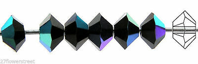 Light Peach color 36 Czech MC Spacer Beads Squished Diamond shape 5305 3x5mm