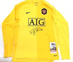 info for 6759e e577c Details about Edwin Van Der Sar Signed Manchester United Goal Keeper Jersey  JSA Coa
