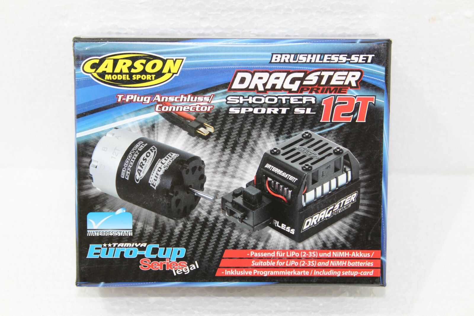 Carson 500906163 brushless combo 12t dragster Prime water resistant