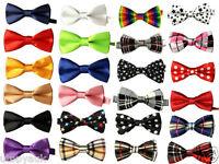 Kids Boys Children Satin Wedding Party Adjustable PreTied Bow tie Quality Dickie