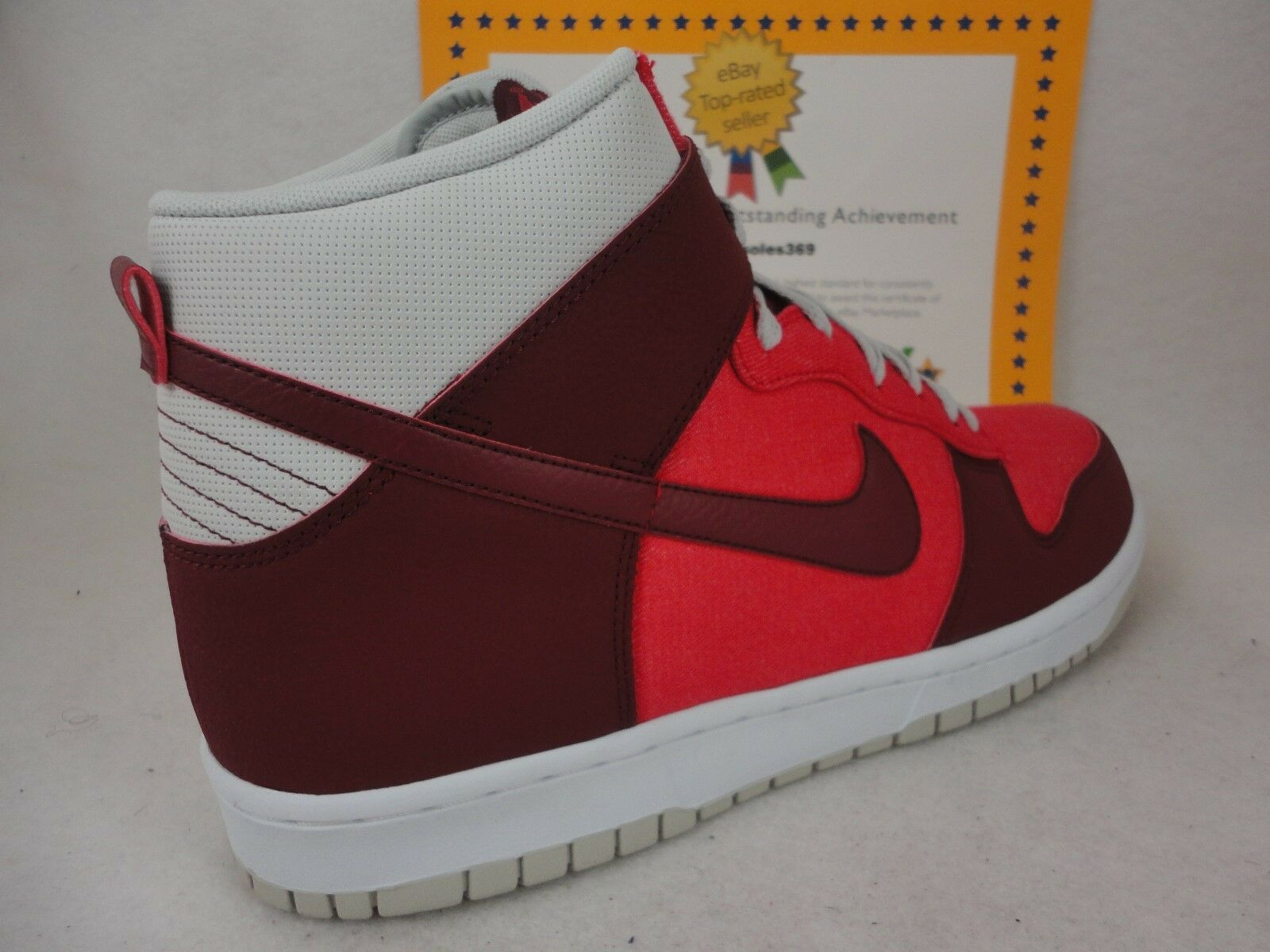 Nike Dunk High, Team 2012, Hyper Red / Team High, Red / Grey, 317982 612, Sz 12 5184b0