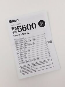 Details about Nikon D5600 5600 Instruction Owners Manual D5600 Book NEW