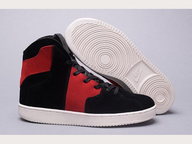 official photos 4c965 3455a ... Nike Air Jordan Jordan Jordan Westbrook 0.2 High Black Red Suede Banned  Bred 1 Mens sz ...