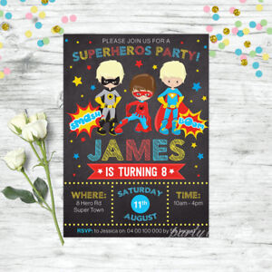 SUPERHERO-INVITATIONS-BOYS-BIRTHDAY-PARTY-PERSONALISED-INVITES-SUPER-HEROS