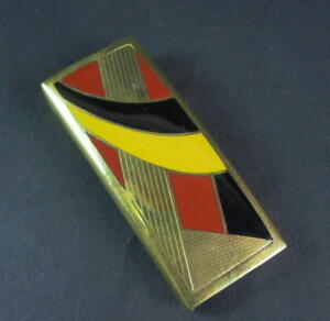 Art-Deco-Guertelschliesse-Metall-amp-Emaille