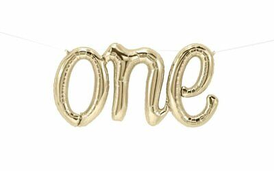 """Party Number Balloons Birthday /""""Hello 30/"""" Gold Script Foil Balloon"""