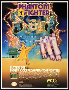 PHANTOM-FIGHTER-Original-1990-Trade-print-AD-game-promo-FCI-Nintendo-NES