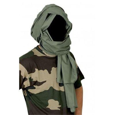 chech chèch shèch foulard écharpe vert armée Chèche coton kaki état neuf