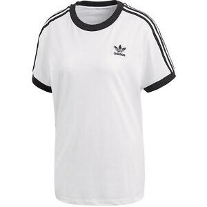 Adidas Originals 3 Strisce Donna T-shirt Bianco 40