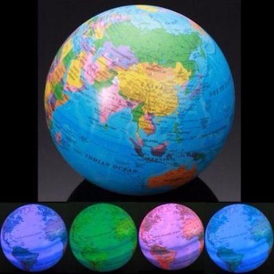 GLOBE LED MAGIC REVOLVING Educational Toys High Spinning World Globe Map Earth