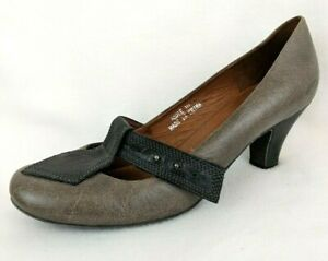 bb9d9a0f5f4 Jeffrey Campbell Women s Gray   Black Leather Ibiza Last Jodie Pumps ...
