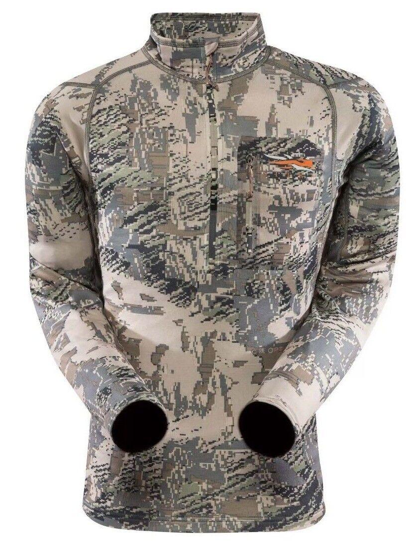 Medium Sitka Gear Men's Core Midweight Zip Shirt Long Sleeve Gore Open Country