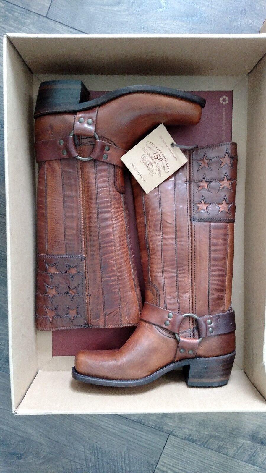 NIB  FRYE Harness Tall Tan Leather Stiefel Größe 6M