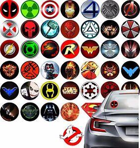 Stickers-on-truck-car-skateboard-super-hero-logo-marvel-Batman-Superman-Deadpool