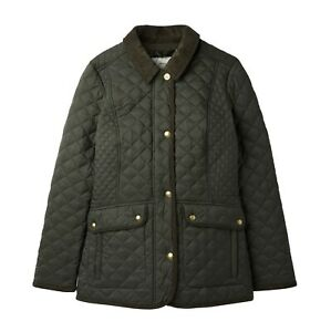 Joules-Newdale-Women-039-s-Quilted-Jacket-Everglade-Now-With-30-Off