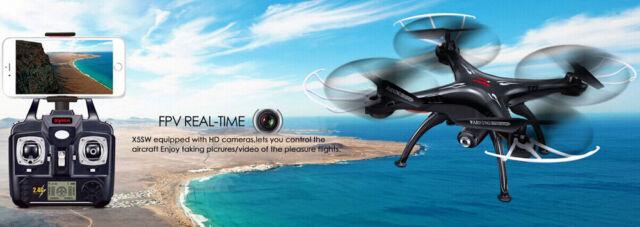 Syma X5SW 4CH 2.4G 6-axis Gyro Wifi FPV 0.3MP Camera RC Quadcopter Drone U0Y7