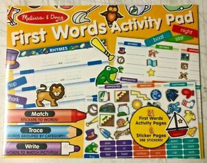 Details About Melissa And Doug First Words Activity Pad Writing Reading Training 30530 New