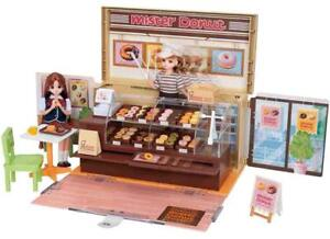 Takara-Tomy-Doll-playhouse-toy-set-Licca-chan-Mister-Donut-shop-w-Tracking-NEW
