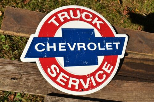 3100 Dealership Trucks Silverado Chevrolet Truck Service Tin Metal Sign